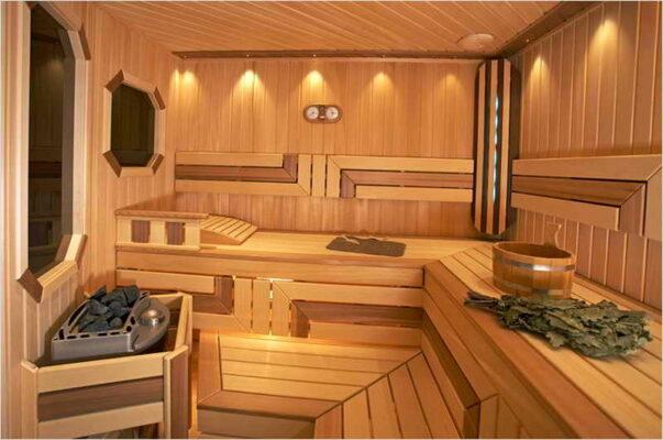 Расположение скамей в бане