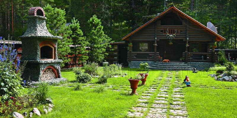 дизайн усадьбы в русском стиле