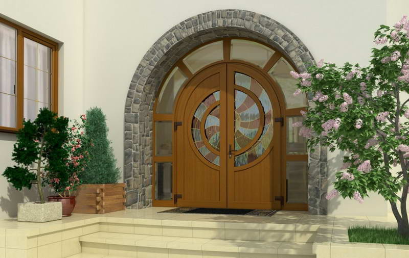 Двери с окнами