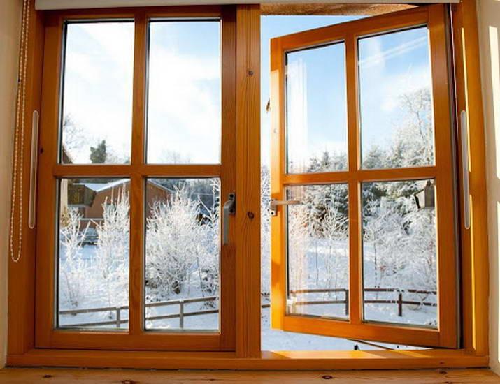 Окна с деревянными рамами