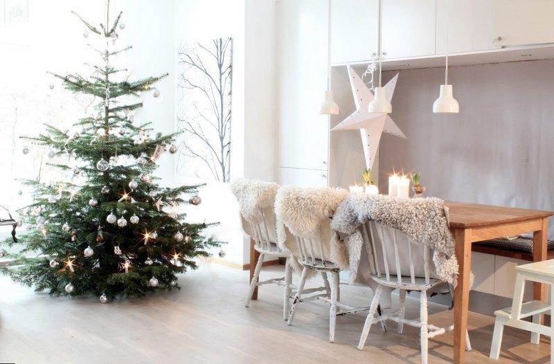 декорировать дом к Новому году