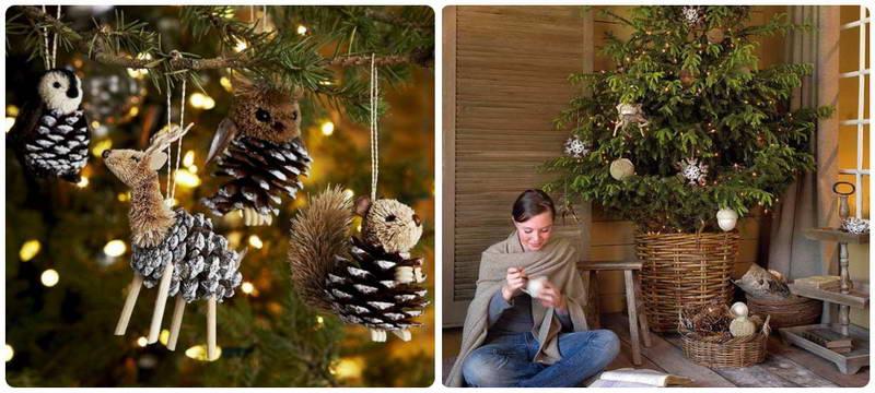 декорировать дом к Новому году в стиле эко